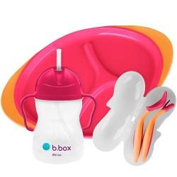 Zestaw do karmienia BLW, Strawberry Shake, b.box