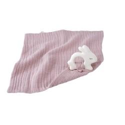 Gryzak z pieluszką, różowy Królik, Kikadu