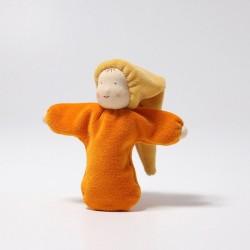 Laleczka mięciutka 0+, pomarańczowa, Grimm's