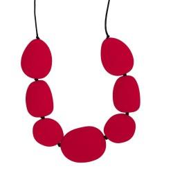 Silikonowy naszyjnik Kamienie, czerwony, Jellystone Designs